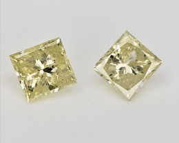2/0.32 cts , Natural Yellow Diamonds , Precious Loose Diamonds
