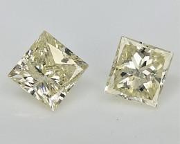 2/0.33 CTS ,Light Color Diamond , Transparent diamond