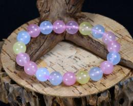 130.30Ct Natural Fancy Beryl Beads Bracelet AB5774