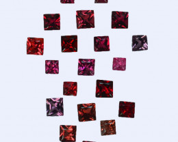 1.02Cts Natural  Red Spinel Square2.30mm Burma Parcel