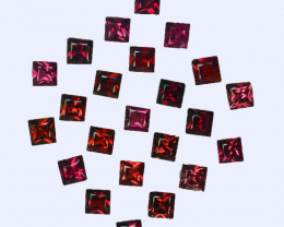2.02Cts Natural  Red Spinel Square 2.40mm Burma Parcel