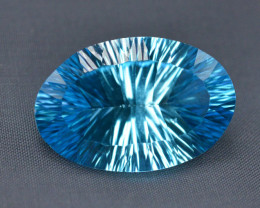 Amazing Laser Cut 27.70 Ct Natural Swiss Blue Color Topaz