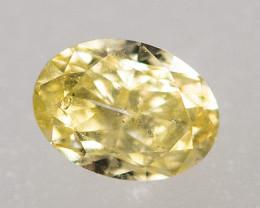 Natural Fancy Intense Yellow Diamond HRD certified SI2   (#5795)