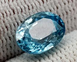 3.31CT BLUE ZIRCON BEST QUALITY GEMSTONE IIGC01