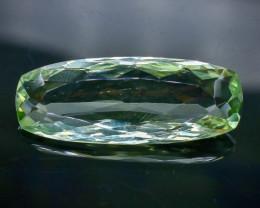 15.39 Crt Natural Green Prasiolite Amethyst Faceted Gemstone.( AB 55)