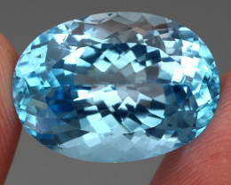25.94 ct. 100% Natural Earth Mined Top Quality Blue Topaz Brazil