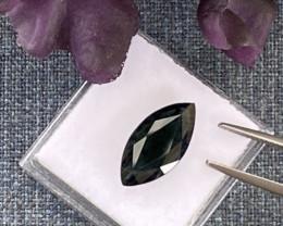 Posh! 5.28ct  Sapphire - Greenish Black