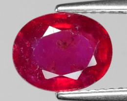 2.56 Cts  Pinkish Red Natural Ruby BURMA  Loose Gemstone