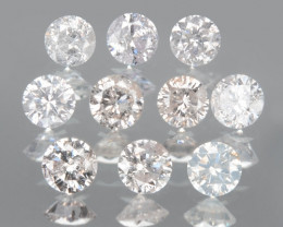 0.52 Cts 10 Pcs Untreated Fancy Pink Color Natural Loose Diamond