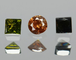0.05 Cts 3 pcs Rare Fancy Mix Color Natural Loose Diamond