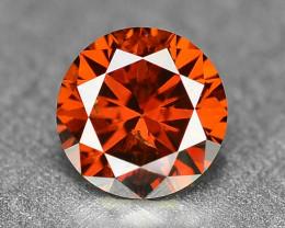 0.18 Sparkling Rare Fancy Orange Red Color Natural Loose Diamond