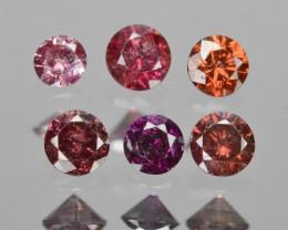 0.10 Cts 6 pcs Rare Fancy Purple Pink Color Natural Loose Diamonds