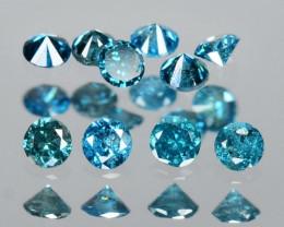 0.12 Cts 10 pcs Sparkling Rare Fancy Blue Color Natural Loose Diamond