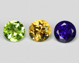 2.43 Cts 3 Pcs Natural Mix Color Fancy Loose Gemstones