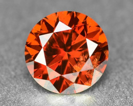 0.19 Sparkling Rare Fancy Orange Red Color Natural Loose Diamond