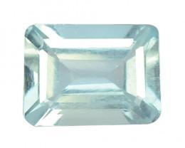 1.30 Cts UnHeated AAA Sky Blue Natural Aquamarine Loose Gemstone