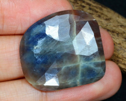 Unheated 32.15Ct Natural Untreated Blue Sapphire AB5903