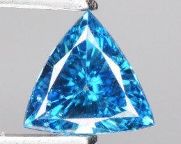 0.08Cts Natural Diamond Flashing Blue Fancy 3mm  Africa