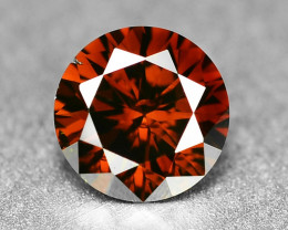 0.24 Cts Rare Fancy Orange Red Color Natural Loose Diamond