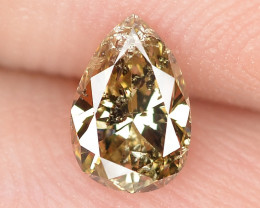 *NoReserve*Diamond 0.37 Cts Untreated Fancy Yellowish Brown Color Natural