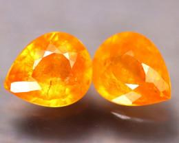 Fanta Garnet 4.07Ct 2Pcs Natural Orange Fanta Garnet EF1511/B34