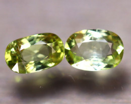 Tourmaline 2.72Ct 2Pcs Natural Green Tourmaline EF1513/B19
