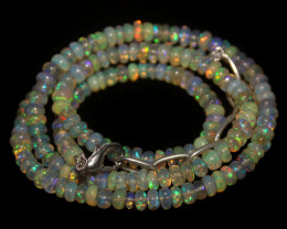 53 Crt Natural Ethiopian Welo Opal Necklace 76