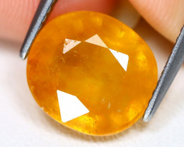 Yellow Sapphire 6.01Ct Oval Cut Yellow Color Sapphire AB5925