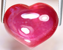 Ruby 13.90Ct Heart Shape Ruby Cabochon Madagascar Pinkish Red Ruby ES1514