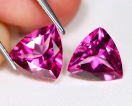 Pink Topaz 5.80Ct 2Pcs VVS Trillion Cut Natural Pink Color  Topaz AB5953