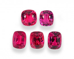 3.34 Cts Dazzling Natural Burmese Vivid Red Spinel Lot