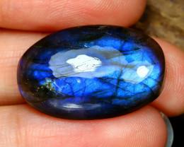 Labradorite 28.64Ct Natural Blue Flash Color Labradorite B5961