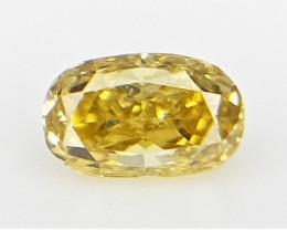 0.06 cts , Elongated Oval Cut Diamond ,  Colored Diamond