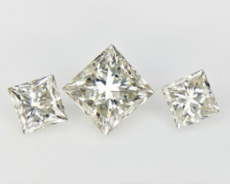 3/0.56 cts , Light Colored Gem , Natural Colored Diamonds
