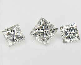3/0.53 CTS , Natural Princess Diamonds , Beautiful Sparkling Diamonds