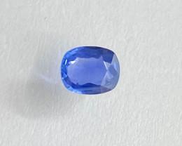 0.91ct unheated clean blue sapphire