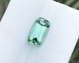 2.75 Ct Natural Blueish Green Internally Flawless TOP Quality Tourmaline Ge