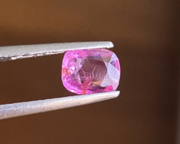 0.82ct unheated pink sapphire