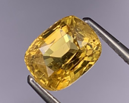 2.12 Cts Certified Srilanka AAA Quality Vivid Yellow Sapphire Unheated