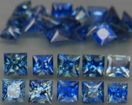 5.22Ct./25Pcs/ 2.7 - 3.2 mm Cornflower Blue Natural Earth Mined  Sapphire