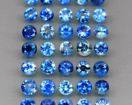 35Pcs/4.60Ct. / 3.0 mm  Cornflower Blue Natural Earth Mined  Sapphire Ceylo