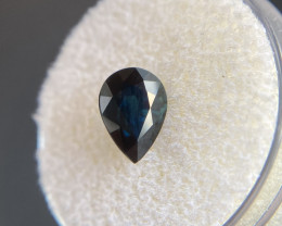 2.02ct DEEP Green Blue Teal Sapphire Pear Cut RARE Loose Gem 8.8x6.3mm