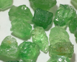115Ct Natural Tsavorite Garnet Facet Rough Parcel