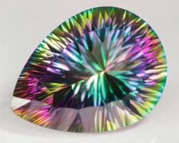 14.38 Cts Rare Fancy Rainbow Colors Natural Mystic Topaz