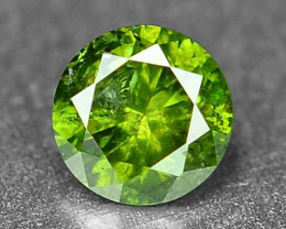 0.09 Cts Sparkling Rare Fancy Green Color Natural Loose Diamond