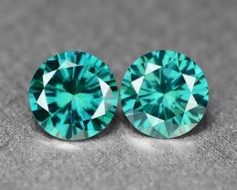 0.27 Cts 2pcs Sparkling Rare Fancy  Blue Color Natural Loose Diamond