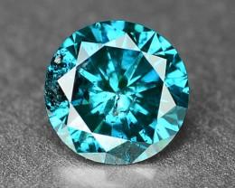 0.29 Cts  Sparkling Rare Fancy  Blue Color Natural Loose Diamond