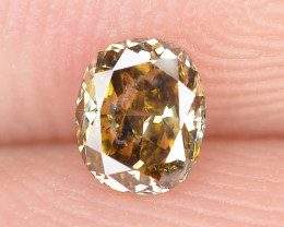 Diamond 0.18 Cts Untreated Fancy Brownish Yellow color Natural