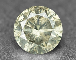 Diamond 0.18 Cts Fancy Untreated Yellowish Gray Natural Loose