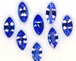 2.02 Cts Natural Purple Blue Tanzanite 6x3mm Marquise 8Pcs Tanzania